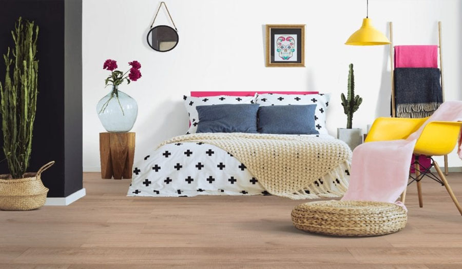 luxury vinyl flooring bedroom